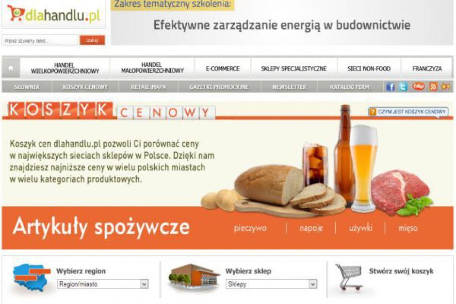 Koszyk cen dlahandlu.pl: Cztery sieci supermarketów z identycznym poziomem cen
