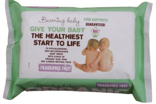 Beaming Baby wprowadza chuteczki  nawilżane jedynie Aloe Vera