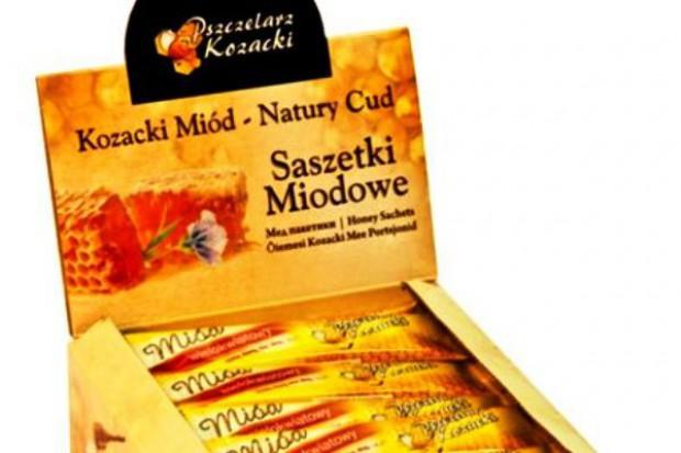 Saszetki miodowe firmy Pszczelarz Kozacki
