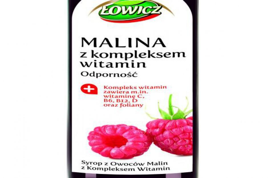Nowy syrop Łowicz - malina z kompleksem witamin