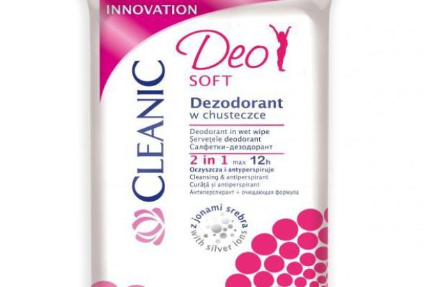 Dezodorant w chusteczce Cleanic DEO Fresh i DEO Soft