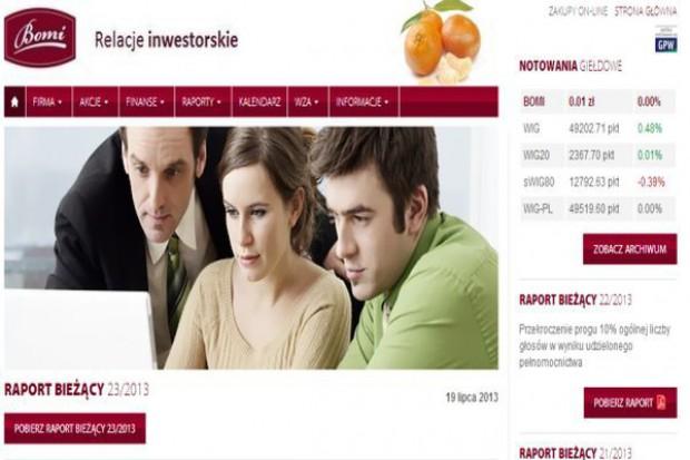 Bomi, pomimo, że w upadłości generuje zysk za I pol. 2013 r.