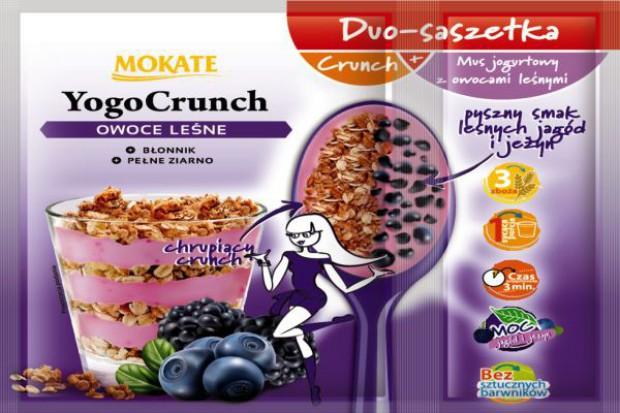 Mokate wprowadza duo-saszetkę z płatkami śniadaniowymi i jogurtem