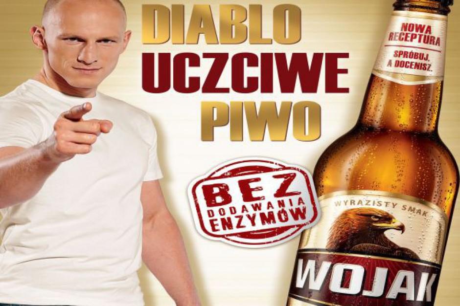 Diablo Włodarczyk w reklamie piwa Wojak