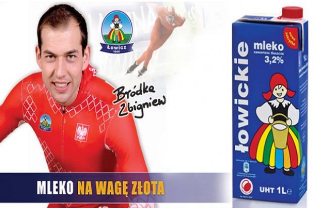 Zbigniew Bródka reklamuje Mleko Łowickie