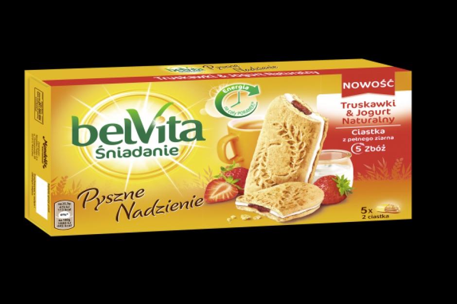Nowe wielozbożowe ciastka belVita Truskawki & Jogurt Naturalny