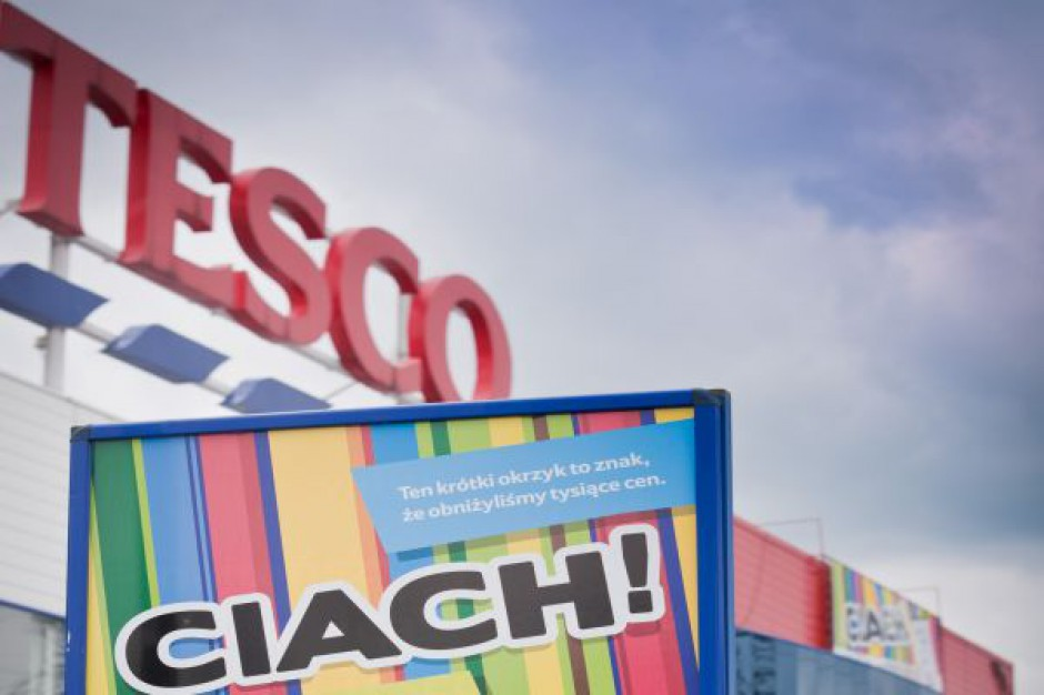Tesco notuje spadek sprzedaży w Polsce o 2,8 proc. rdr