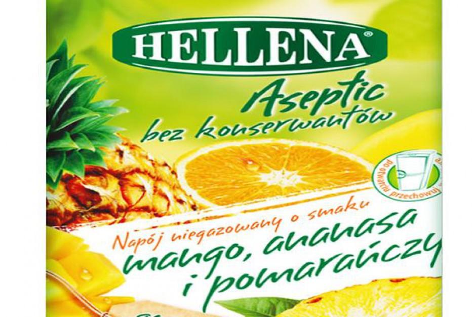 Nowe owocowe smaki napojów niegazowanych Hellena