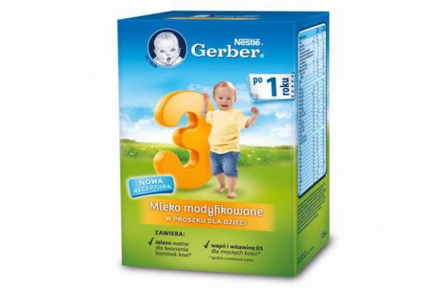 Mleko modyfikowane GERBER 2 i 3 ma nową recepturę