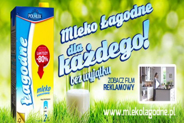Polmlek reklamuje mleko Łagodne