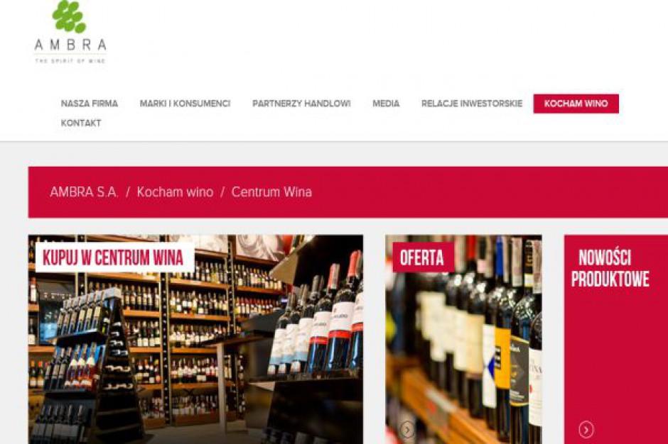 Ambra nie planuje nowych otwarć Centrum Wina. Chce zwiększyć sprzedaż z istniejących placówek