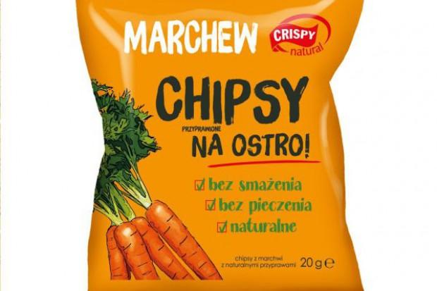 Chipsy z marchwi na ostro od Crispy Natural