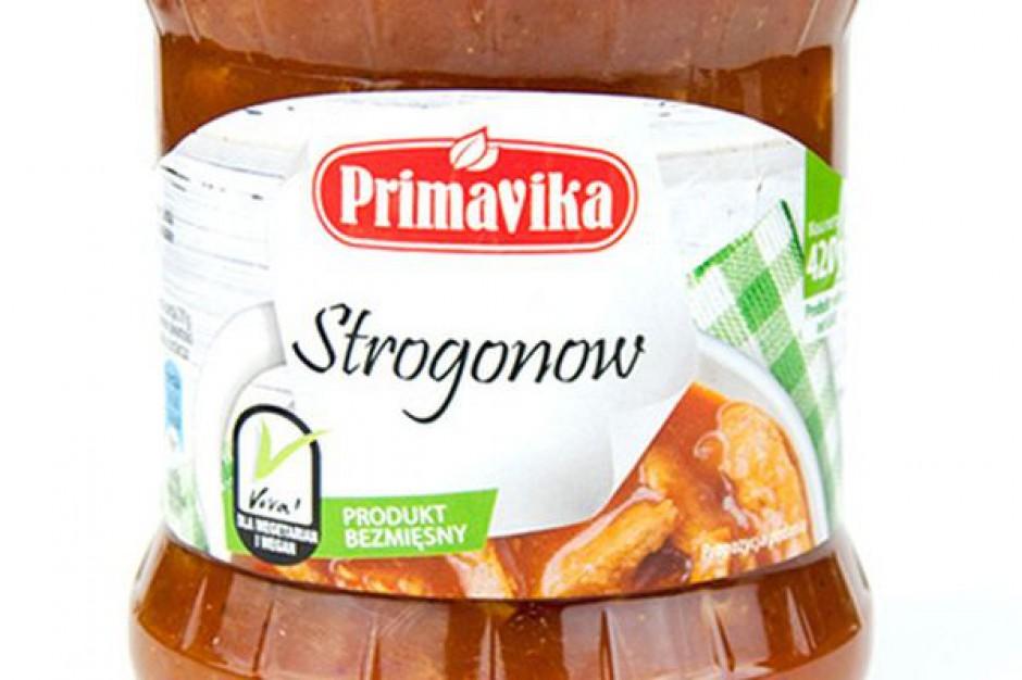 Wegetariański Gulasz Strogonow marki Primavika w nowym opakowaniu