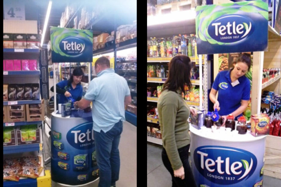 Degustacje herbat Tetley Golden w hipermarketach