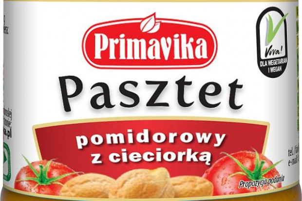 Nowe opakowanie pasztetu marki Primavika
