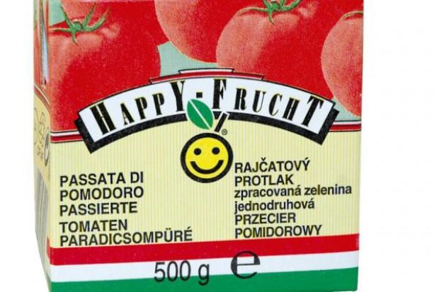Linia przetworów pomidorowych marki Happy Frucht