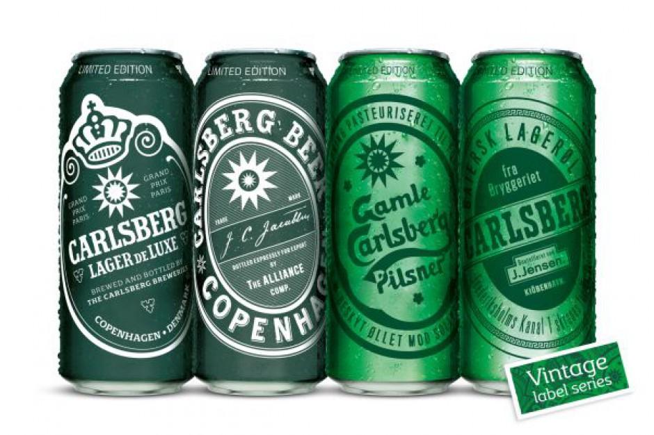 Limitowana edycja puszek Carlsberg w stylu vintage