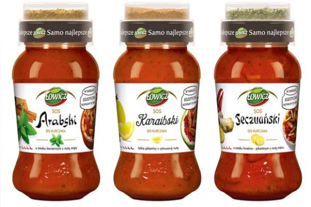 Nowość od Łowicza: Trzy sosy z nakładkami zawierającymi egzotyczne przyprawy do mięs