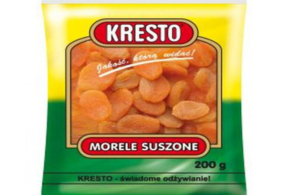 Suszone Morele, Śliwki i Żurawina marki KRESTO