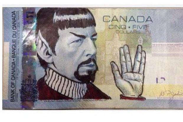 Spock na kanadyjskich banknotach