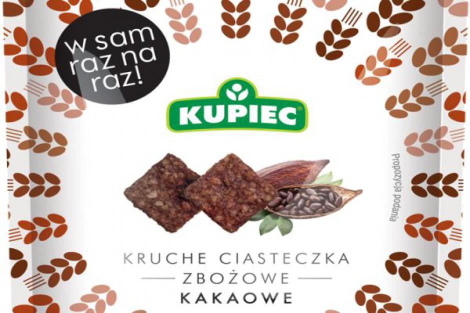 Nowe smaki w linii kruchych ciasteczek zbożowych marki Kupiec