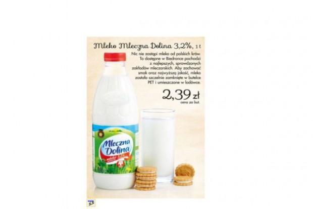 Biedronka zmienia dostawcę mleka marki własnej