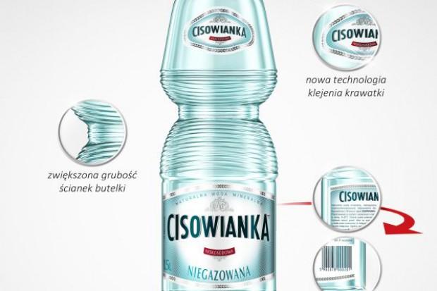 Woda Cisowianka w nowych butelkach