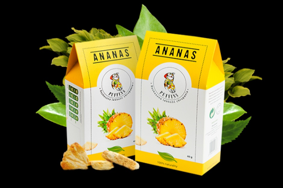 Puffingowany Ananas marki Puffins