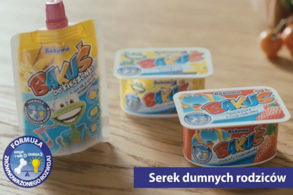Bakoma reklamuje serki Bakuś