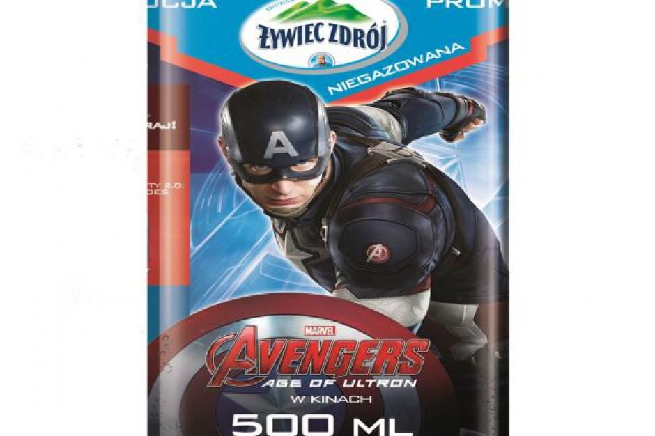 """""""Avengers: Czas Ultrona"""" na etykietach Żywiec Zdrój"""