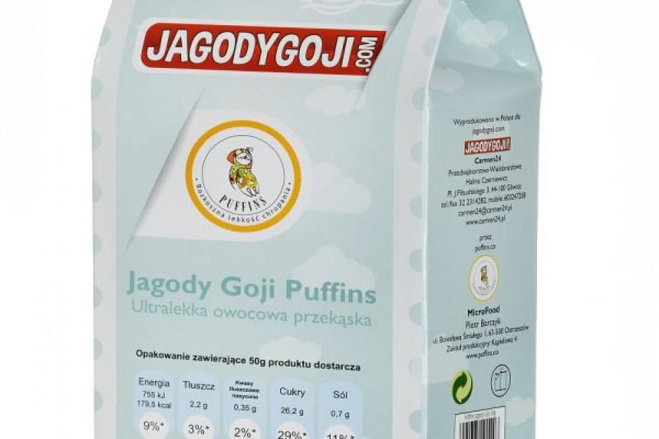 Puffingowane Jagody Goji marki Puffins