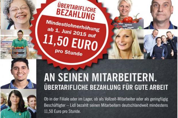 Lidl podnosi płacę minimalną niemieckim pracownikom - 11,5 euro za godzinę