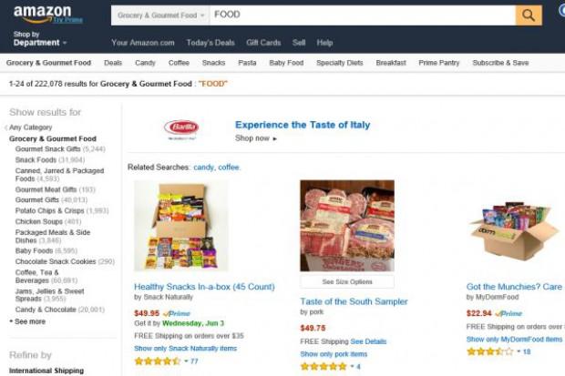 Amazon prowadzi rozmowy z producentami żywności private label