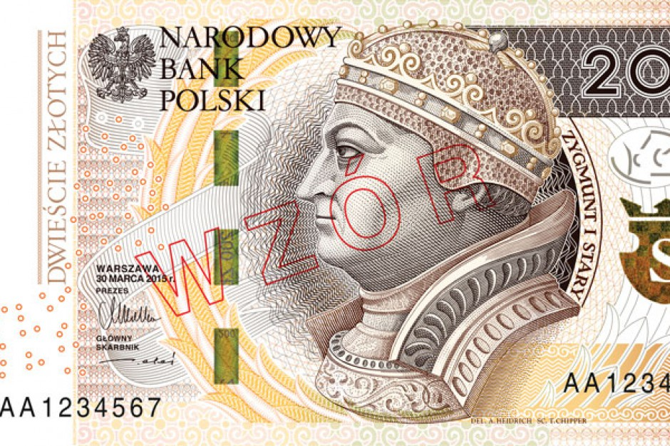 W lutym 2016 r. do obiegu trafi kolejny zmodernizowany banknot