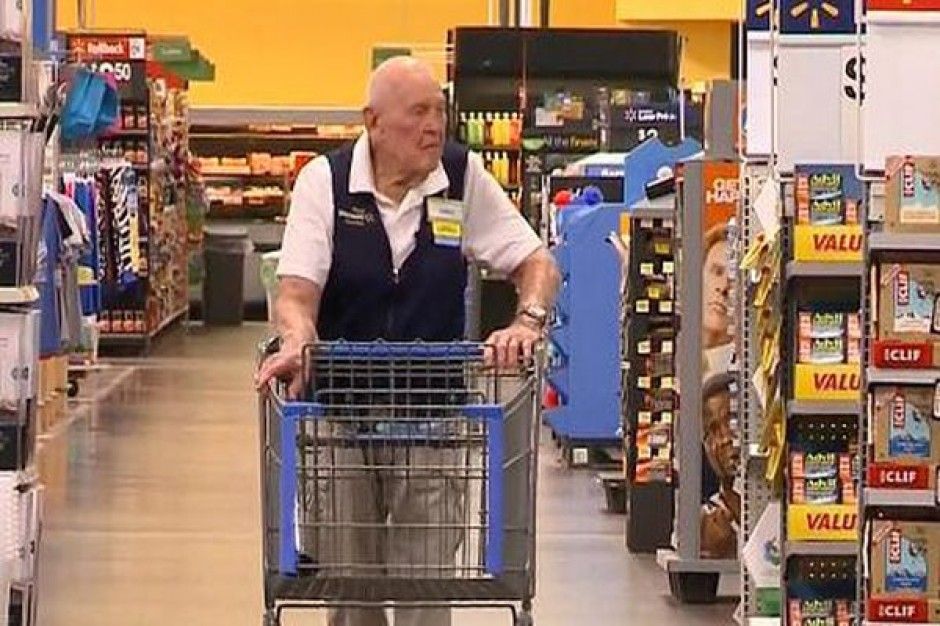 Walmart zatrudnia 103-letniego pracownika
