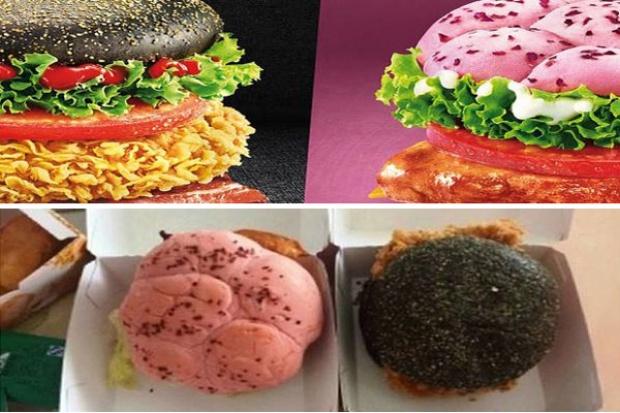 KFC sprzedaje różowe i czarne hamburgery