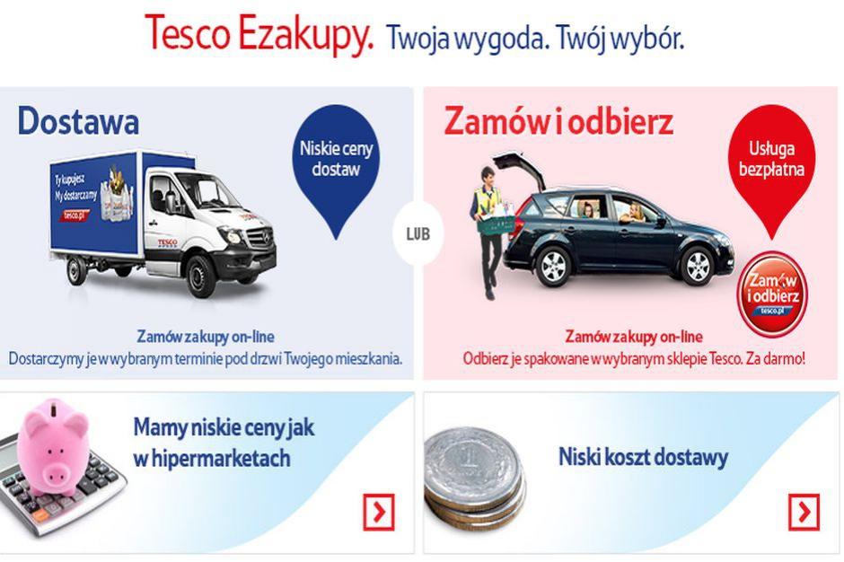 Średnia wartość zamówienia w e-sklepie Tesco jest 4-5 razy większa niż w sklepie stacjonarnym