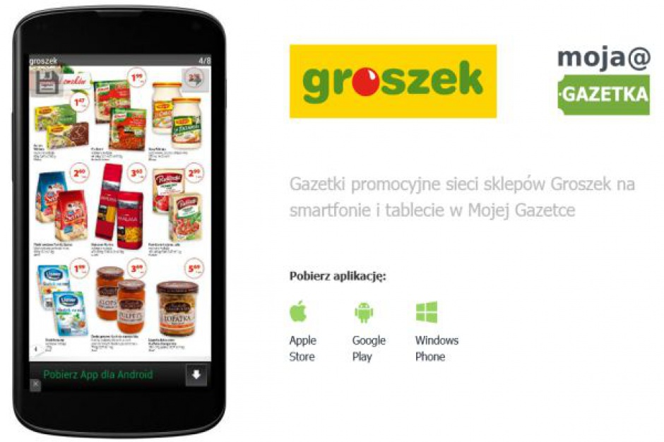 Sieć Groszek startuje z aplikacją mobilną