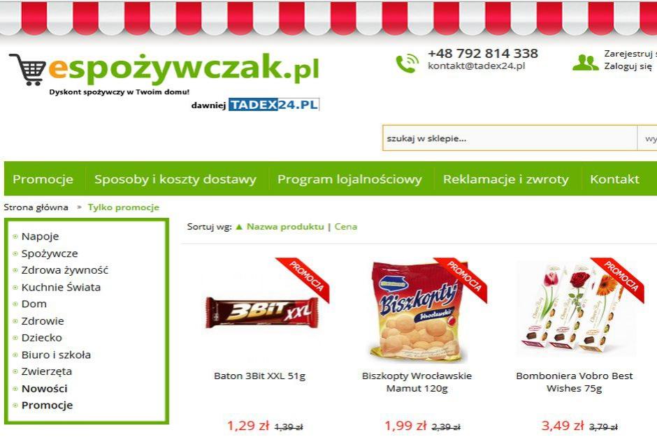 Wystartował espożywczak.pl - internetowy dyskont spożywczy
