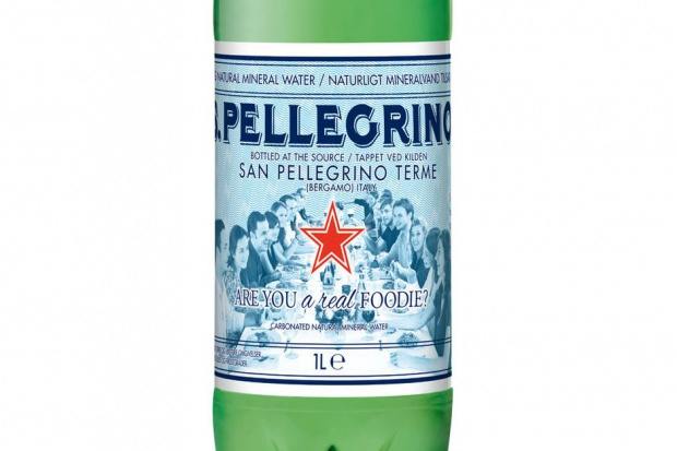Limitowana edycja wody S.Pellegrino z reklamowym wsparciem