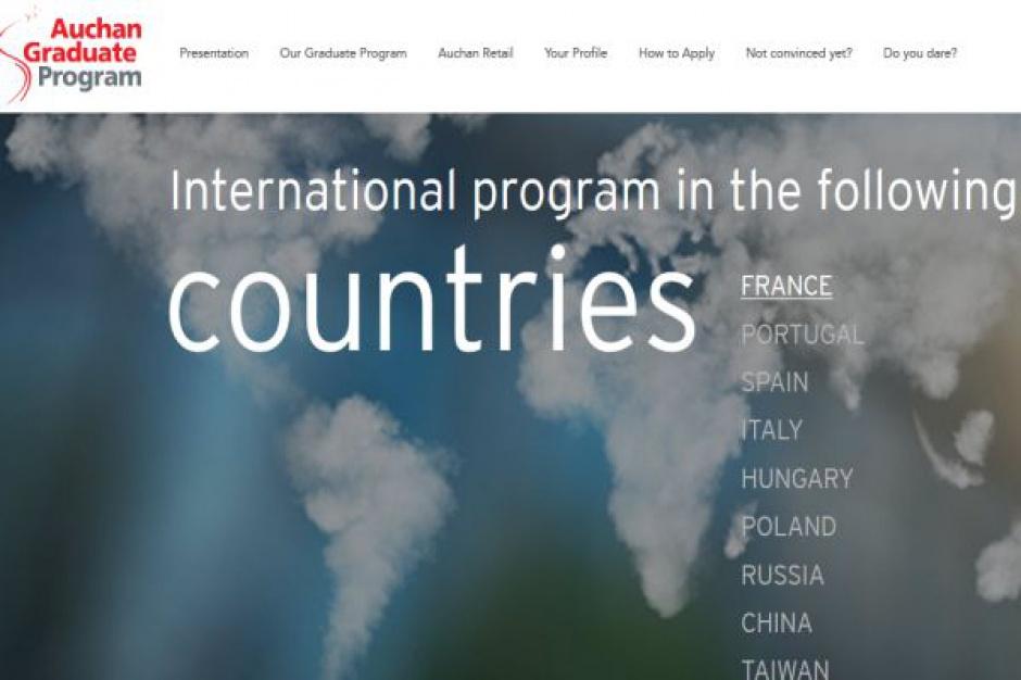 Auchan szuka przyszłej kadry kierowniczej. Program obejmuje 9 krajów, w tym Polskę