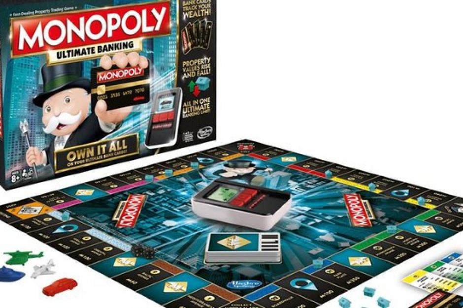 Gra Monopoly bez banknotów, ale z kartami płatniczymi