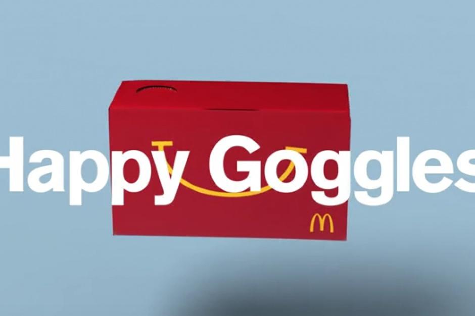 McDonald's dołączy do zestawów Happy Meal gogle do obsługi wirtualnej rzeczywistości
