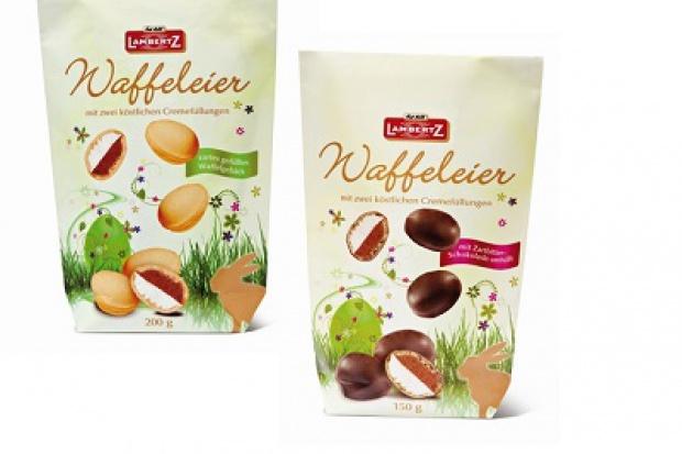 Jajeczka waflowe firmy Lambertz