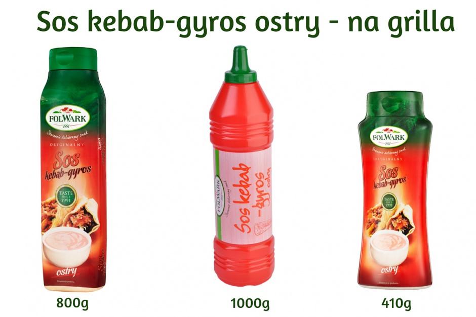 Kebab gyros ostry