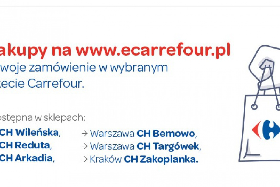 Usługa click&collect e-sklepu Carrefour już dostępna w Warszawie