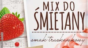 Truskawkowy Mix do śmietany Delecta