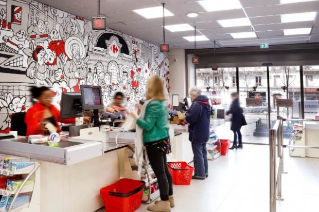 Carrefour z innowacyjnym konceptem miejskiego sklepu w Paryżu (galeria)