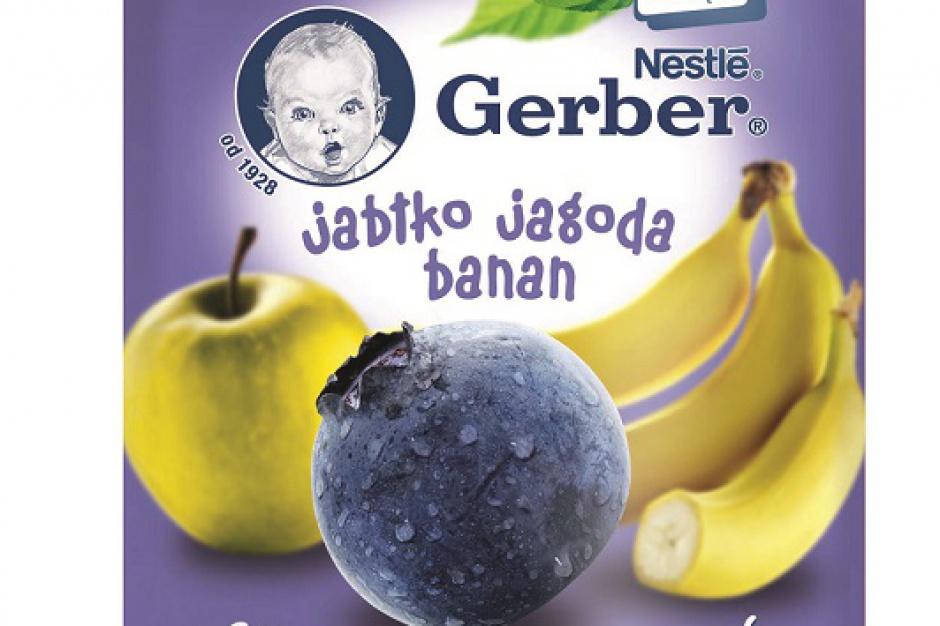 Gerber wprowadził tubki pełne owoców