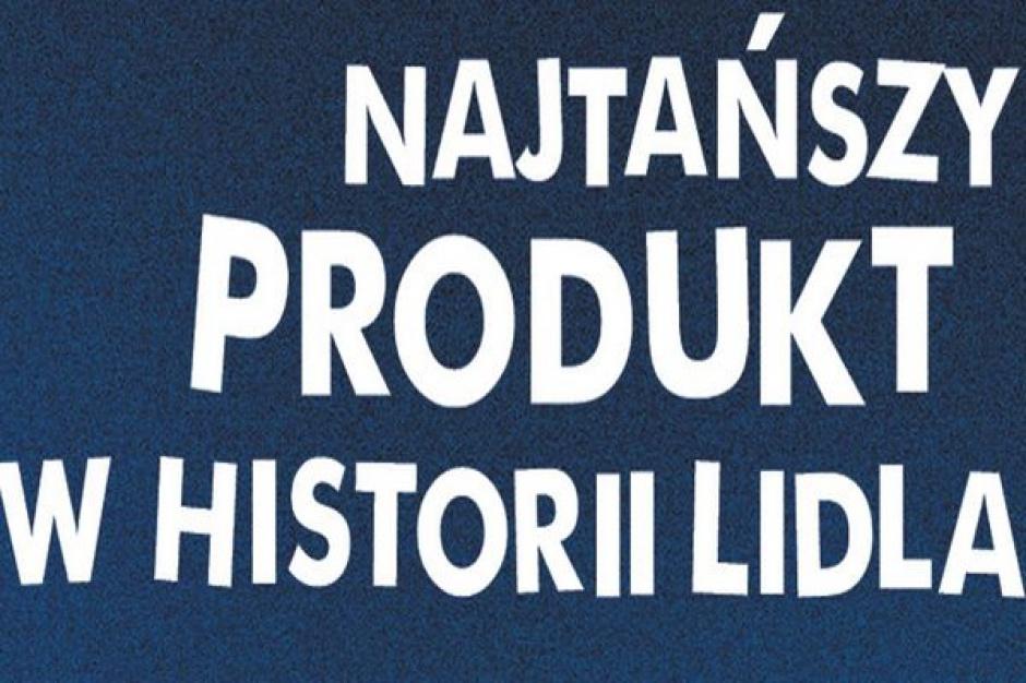 """""""Najtańszy produkt w historii Lidla"""" najatrakcyjniejszą formą promocji?"""